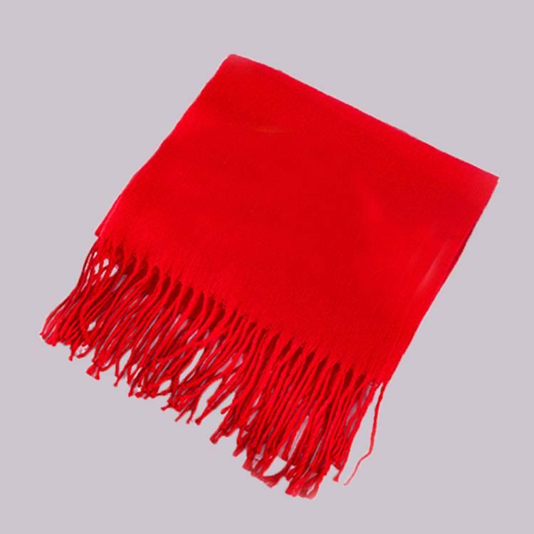 加厚针织红围巾